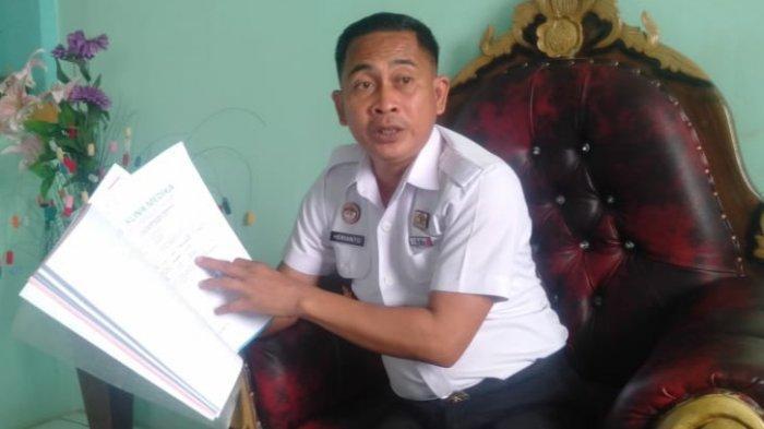 RUTAN UNAAHA - Kepala Rumah Tahanan Kelas IIB Unaaha, Herianto, saat ditemui di ruang kerjanya, di Desa Lolonggowuna, Kecamatan Tongauna, Kabupaten Konawe, Sulawesi Tenggara, Rabu (24/2/2021).