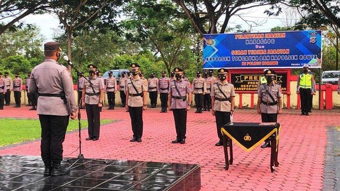 Pelantikan Kabaglog Polres Konawe dan Sertijab Kapolsek Tongauna dan Routa