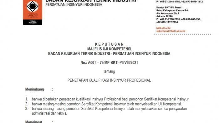 Bupati Konawe Utara (Konut) Ruksamin resmi menjadi Insinyur Profesional Utama (IPU) berdasarkan Keputusan Majelis Uji Kompetensi Badan Kejuruan Teknik Industri - Persatuan Insinyur Indonesia (PII) yang ditetapkan di Jakarta pada 20 Agustus 2021.