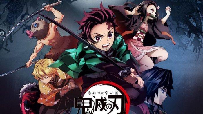 Poster serial anime Demon Slayer: Kimetsu no Yaiba