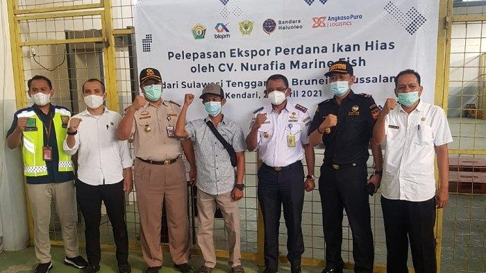 Tim Klinik Ekspor Sulawesi Tenggara Kirim 2.360 Ekor Ikan Hias ke Brunei Darussalam