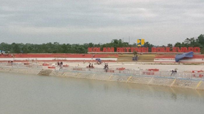 Kolam Retensi Boulevard, Pilihan Warga Kota Kendari Habiskan Waktu Sore, Jadi Tempat Olahraga