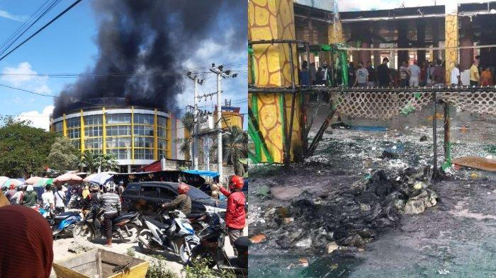Kondisi Terkini Kebakaran Pasar Sentral Kota Lama Kendari: Api Dipadamkan, Plafon Lantai 3 Terbakar