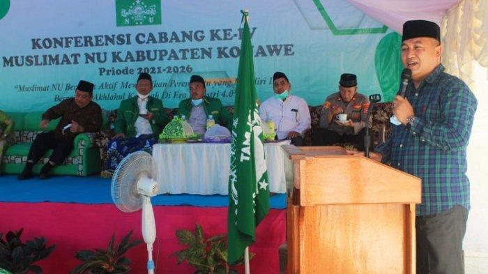 Konferensi Cabang ke- IV Muslimat NU Konawe, Kemenag Minta Pengurus Tebar Kedamaian