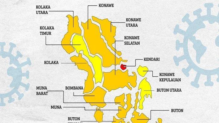 Sempat Zona Orange, Kota Kendari Kembali Masuk Zona Merah Risiko Penyebaran Covid-19 di Sultra