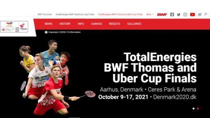 Thomas dan Uber Cup 2020: Jadwal Pertandingan, Hasil Drawing Siaran Langsung TVRI  9-17 Oktober 2021