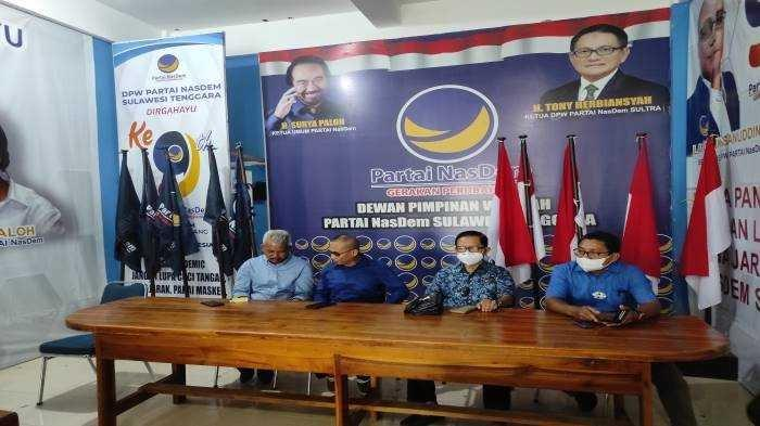 Gubernur Ali Mazi Ketua DPW Nasdem Sulawesi Tenggara, Pengurus Bantah Tony Herbiansyah Dilengserkan