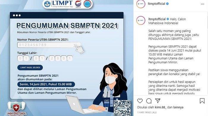 29 Link Mirror Pengumuman SBMPTN 2021, Pastikan Koneksi Jaringan Internet Stabil saat Cek Hasilnya