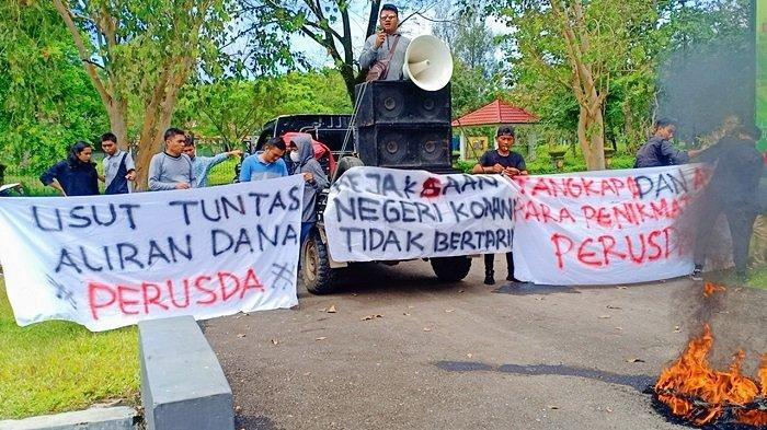 DPD Lira Konawe Unjuk Rasa di Kejari, Minta Kasus Korupsi Perusda Konawe Jaya Diusut Tuntas