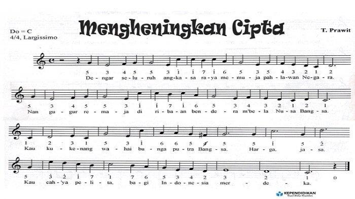 Lirik Lagu Mengheningkan Cipta karya Truno Prawit, Lagu Wajib Nasional Indonesia
