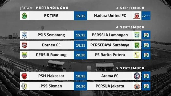 Live Streaming Vidio.com Liga 1 BRI 2021: PSIS vs Persela, Borneo FC vs Persebaya, Persib vs Barito