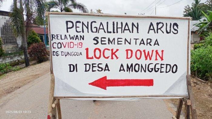 Bupati Konawe Me-lockdown Desa Amonggedo Kabupaten Konawe, Sulawesi Tenggara.