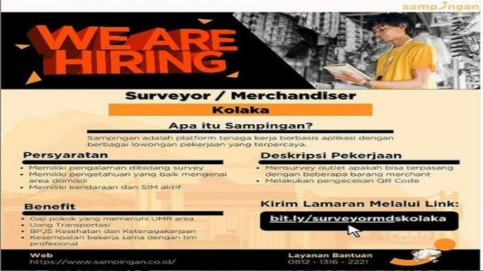 Lowongan Kerja Kolaka, Sampingan Buka Rekrutmen Merchandiser, Simak Persyaratan dan Link Pendaftaran