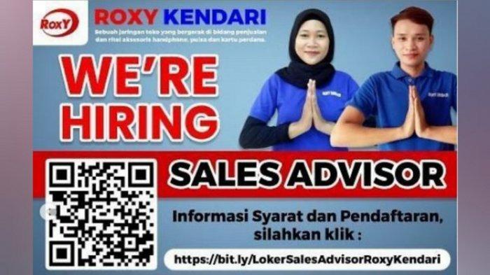 Lowongan Kerja Kendari, Roxy Buka Penerimaan Posisi Sales Advisor, Bisa Didaftar Lulusan SMA/SMK