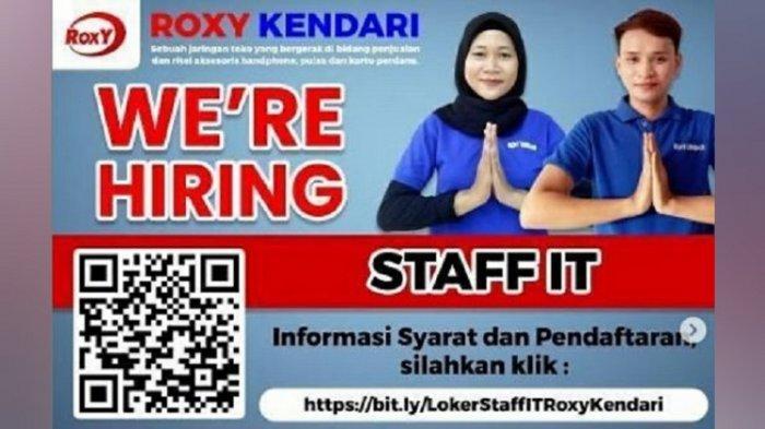 Lowongan Kerja Kendari, Roxy Buka Rekrutmen Staff IT, Simak Persyaratan dan Cara Pendaftarannya