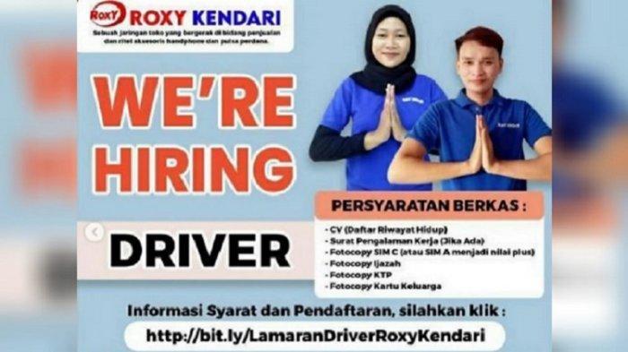 Lowongan Kerja Kendari, Roxy Buka Rekrutmen Driver, Sales Advisor, Staff IT, Berikut Kualifikasinya