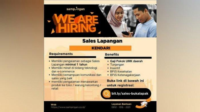 Lowongan Kerja Kendari, Sampingan Buka Rekrutmen Sales Lapangan, Persyaratan, Tata Cara Pendaftaran