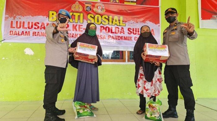 Alumni SIP Angkatan 50 Polda Sultra Bagikan 200 Paket Sembako ke Warga Kelurahan Petoaha dan Nambo