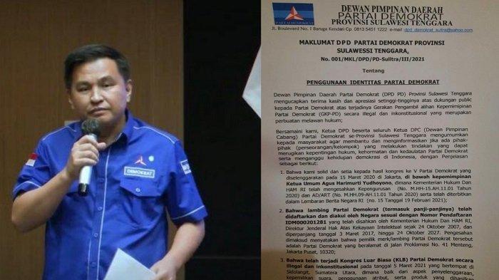 Demokrat Sulawesi Tenggara Keluarkan Maklumat, Antisipasi Dualisme Kepengurusan Partai?