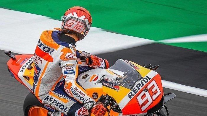 Seusai MotoGP Inggris, Marquez sudah mengakui kesalahannya dan meminta maaf langsung kepada Jorge Martin. (@MotoGP