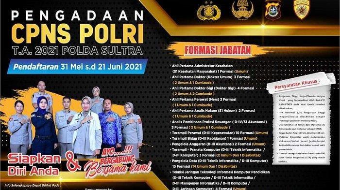 Pendaftaran CPNS Polda Sultra 2021 Minim Pendaftar, Formasi Terampir Pranata Komputer Nihil Pelamar