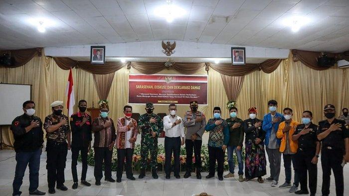 Polres Kendari Gelar Deklarasi Damai, TNI, Pemkot Ormas, Mahasiswa hingga Diapresiasi Wali Kota