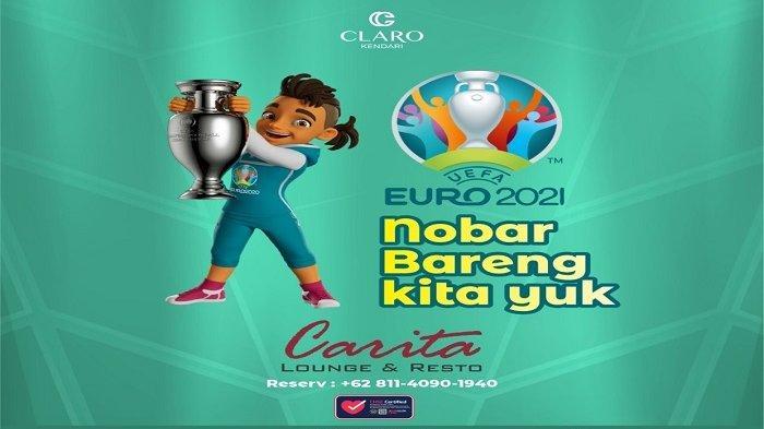 Hotel Claro Kendari Gelar Nobar Piala Eropa 2020, Siarkan Seluruh Pertandingan hingga Final