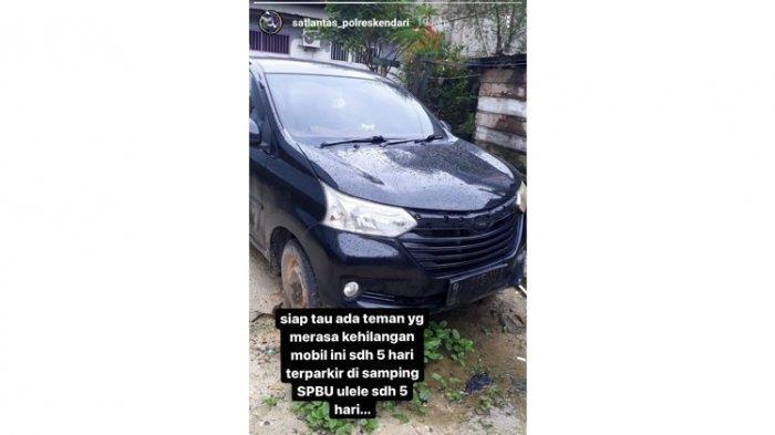 Mobil Toyota Avanza Plat Jakarta Tanpa Tuan Terparkir Selama 5 Hari di Samping SPBU Kota Kendari