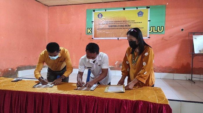 Mahasiswa Jurnalistik Universitas Halu Oleo Jadikan Kelurahan Lapulu Kendari Kampung Literasi Media