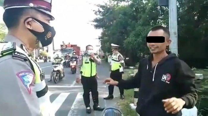Disetop Polisi karena Tak Pakai Helm, Pria Ini Malah Ngaku Punya Tenaga Surya