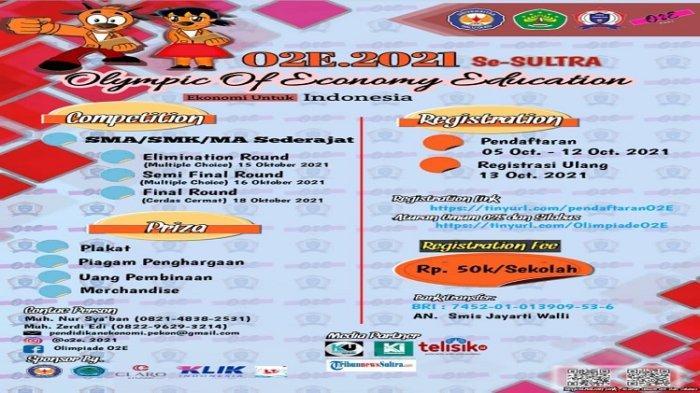 Cara Daftar Olympic of Economy Education 2021 FEB UHO, Dibuka Sampai 12 Oktober, Link Registrasi