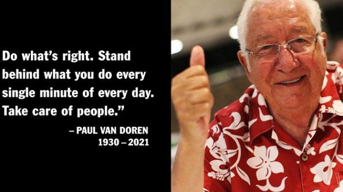 Putus Sekolah hingga Bangun Pabrik Sepatu Vans, Ini Profil Paul Van Doren, Meninggal Usia 90 Tahun