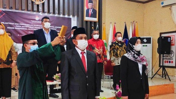 Sekretaris KPU Konawe Resmi Dijabat Noorcahyati Ningsih, Dilantik Sekjen KPU RI