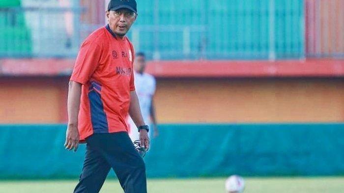 Pelatih Madura United, Rahmad Darmawan. (tribunjatim)