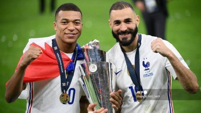 Final UEFA National League, Prancis Juara Taklukan Spanyol, Mbappe dan Benzema Pahlawan Les Bleus