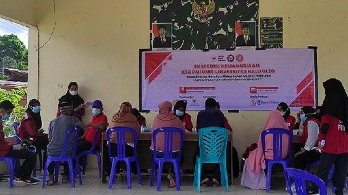 PMI Unit UHO Kendari Gelar Pemeriksaan Kesehatan Gratis kepada Puluhan Warga di Konawe Selatan