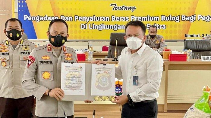Perum Bulog Divre Sultra Sepakat Pasok Beras Premium untuk Pegawai Polda Sulawesi Tenggara