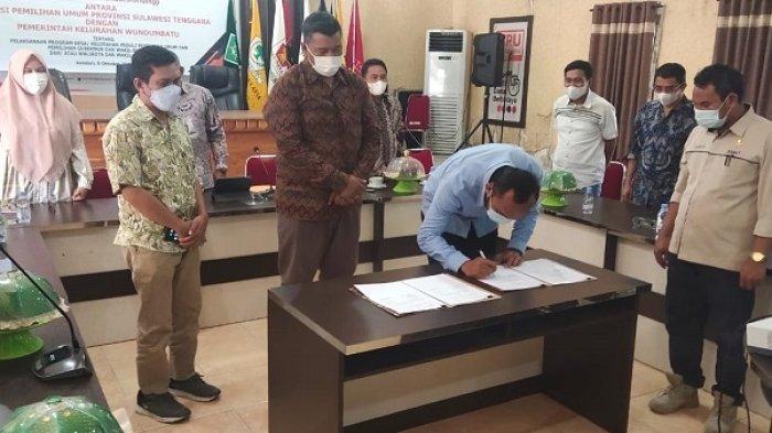 KPU Sultra Teken MoU dengan Pemerintah Kelurahan Wundumbatu, Jadi Locus Program DP3