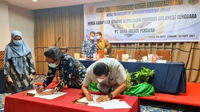 Pemerintah Kabupaten Konawe Kepulauan dan PT GKP Sepakat Kerjasama Investasi Usaha Pertambangan