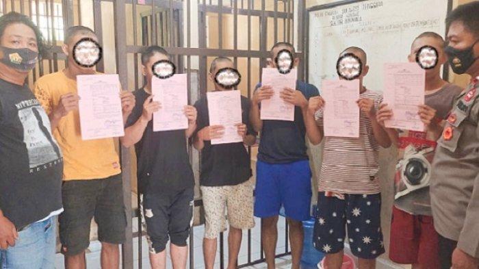 Sebanyak 6 Pria Ditangkap Polisi, Diduga Lakukan Pencurian Solar dan Oli Milik PT VDNI di Morosi
