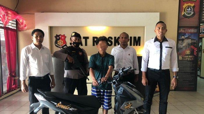 Seorang Pria di Kendari Bawa Kabur Motor Teman Sendiri Bersama Sang Istri, Ditangkap di Kolaka Timur
