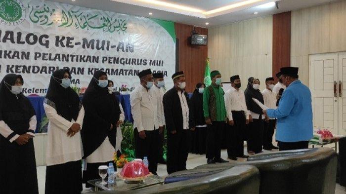 MUI Kendari Lantik Pengurus Kecamatan Kendari dan Poasia, KH Mursyidin Harapkan Sinergi Pemerintah