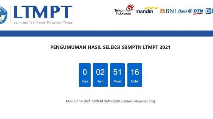 Cek Hasil SBMPTN 2021 Hari Ini mulai Pukul 15.00 WIB atau 16 WITA, Berikut Link Pengumumannya