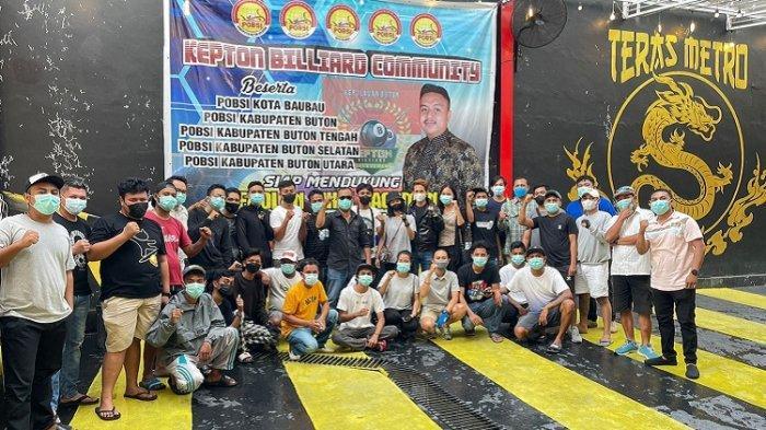 Kepton Billiard Community Siap Dukung Fadlan Sikri Rachman Sebagai Ketua Umum POBSI Sultra