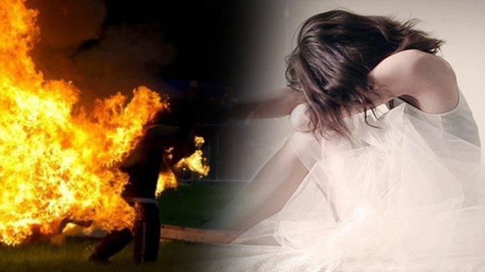 Detik-detik Perempuan Disiram Bensin dan Dibakar Hidup-hidup Pria Misterius di Kawasan Teluk Kendari