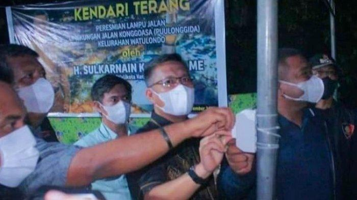Pemkot Kendari Pasang Lampu di 15 Titik Kelurahan Watulondo, Program Kendari Terang