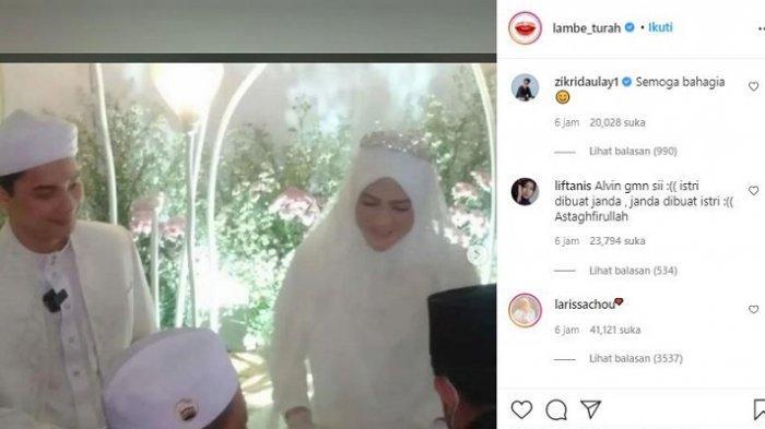 Pernikahan Alvin Faiz dan Henny Yuliana Rahman Diunggahan Lambe Turah