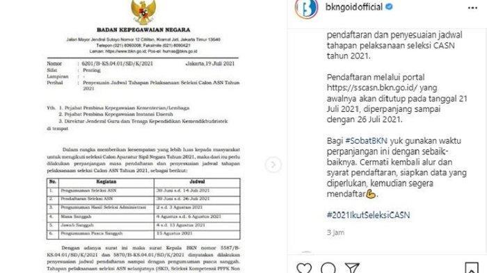 Kabar Terbaru untuk Pelamar ASN, Jadwal Tahapan Pelaksanaan Seleksi CPNS 2021 Diperpanjang