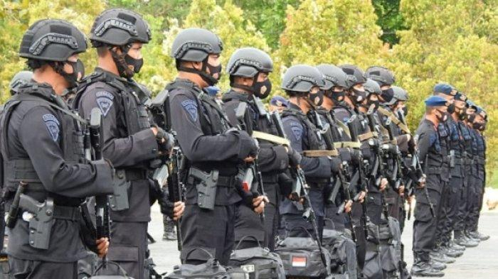 Pasukan Pengamanan Brimob Sultra menjadi bagian pengamananan PON Papua XX 2021