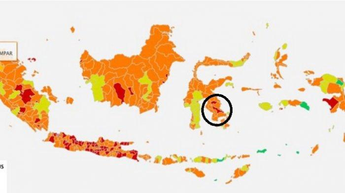 Kota Kendari dan Kabupaten Konawe, Provinsi Sulawesi Tenggara (Sultra), masuk 27 kabupaten/ kota zona merah Covid-19 di luar Pulau Jawa.